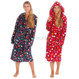 Unisex Christmas Print Flannel Fleece Gown By Onezee6 Pieces