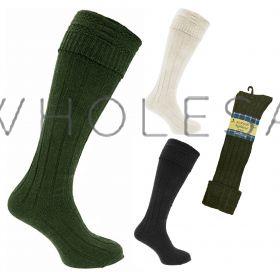34SED042 Men's Wool Rich Kilt Socks
