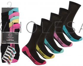 41B366 Ladies Week Day Socks 5 Pair Pack