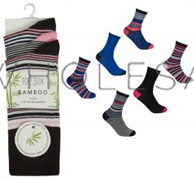 41B521 Ladies Bamboo Non Elastic Socks by Top Sox
