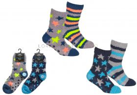 Boys Cosy Socks With Grippersby Street Essentials 24 Pieces