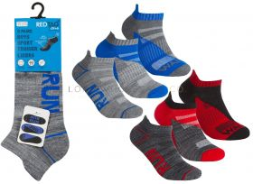 Older Boys Cushion Sole Arch Support Sports Trainer Liner Run, Jog, Walk Socks 3 Pair Pack by Red Tag 3doz