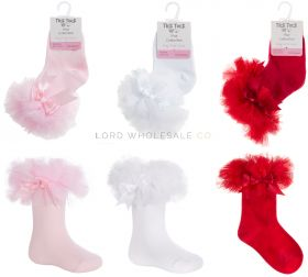 44B880-881 Younger Girls Tutu Frill Socks