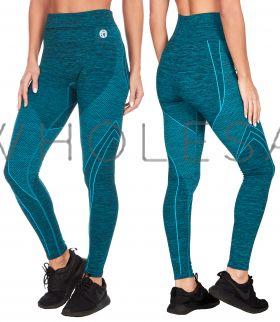 52A170 Teal Jacquard Space Dye Leggings
