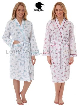 Ladies Poly Cotton Floral Gowns Robes Wraps by Lady Olga