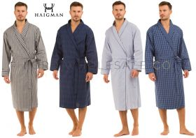 100% Cotton Poplin Lightweight Mens Gowns Robes Wraps by Haigman