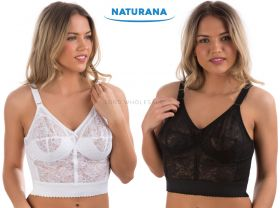 Ladies Long Line Bras by Naturana 8000