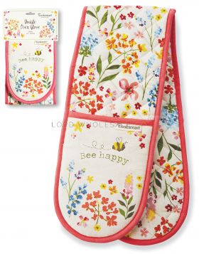DG9640 Bee Happy Double Oven Gloves
