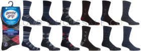 Big Foot Dark Patterned Gentle Grip 3 Pack Socks by Sock Shop