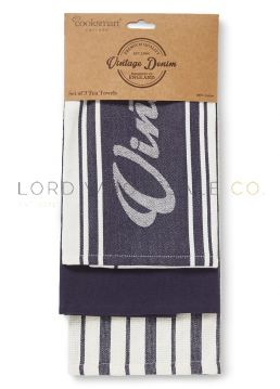 Oxford Denim Tea Towels 3 Pack by Cooksmart