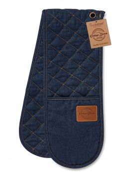 9914 Oxford Denim Double Oven Gloves by Cooksmart