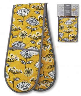 9920 Retro Meadow Double Oven Gloves by Cooksmart