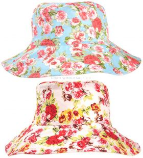 A1406 Ladies Floral Bucket Hats