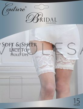 Bridal Soft & Sheer Lace Top Hold Ups by Couture