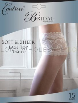 Bridal Soft & Sheer Lace Top Tights by Couture