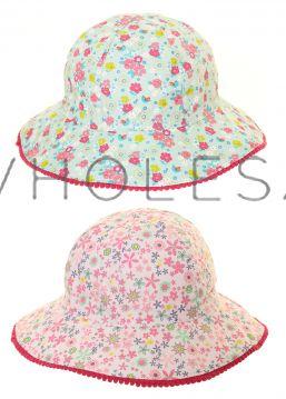 C546 Girls Floral Sun Hats