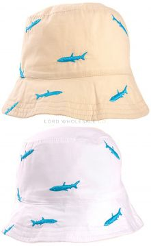 C576 Boys Shark Bucket Hats