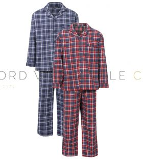 Mens Canterbury Check Brushed Cotton Pyjamas by Champion