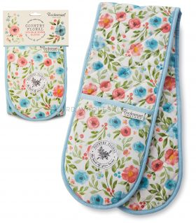 DG1378 Country Floral Double Oven Gloves