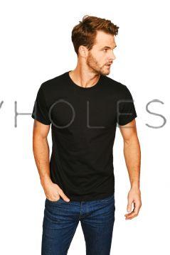 Unisex Casual Premium Ringspun T-Shirt Black