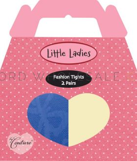 Girls Tights Fashion 2 Pairs by Little Ladies 3 Boxes