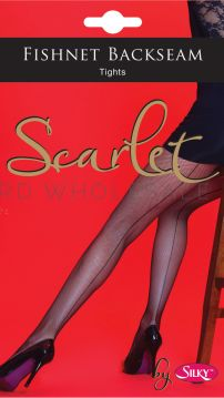 Fishnet Backseam Tights by Scarlet by Silky 6 pairs