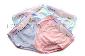 Ladies 3 pair pack Tunnel Elastic Full Briefs with Embroidery