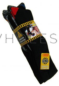 Long Hose Cotton Rich Functional Work Socks