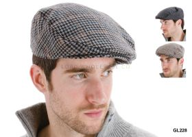 Mens Flat Caps with Wool GL228 12 pieces