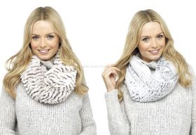 GL456 2 Tone Faux Fur Snood
