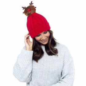 GL577 Rudolph Bobble Hats