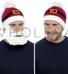GL617 Santa Hats With Detachable Beard