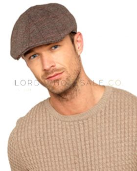 Mens Flat Caps with Wool 12 Pieces