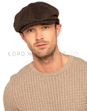 Mens Herringbone Baker Boy Cap 12 Pieces