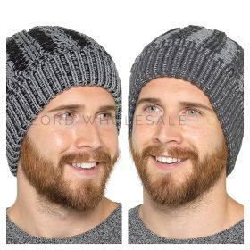 Mens Bobble Hat By Tom Franks with Fur Lining