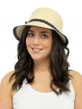 Ladies Crushable Straw Sun Hats by Tom Franks 6 pieces
