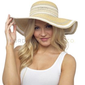 GL735 Striped Wide Brim Summer Hats