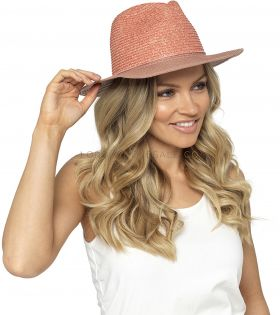 GL750 Dusky Pink Crushable Hats With Tassel