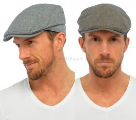 Mens 100% Cotton Flat Caps Hats by Tom Franks 12 pieces