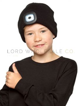 Kids LED Beanie Hat By Stormridge 12 Pieces