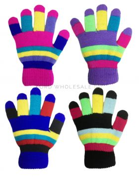 Children's Multi Coloured Lined Magic Gloves