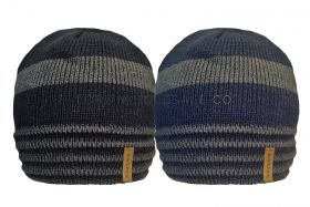 HAI_686 Men's Striped Hats With Sherpa Lining