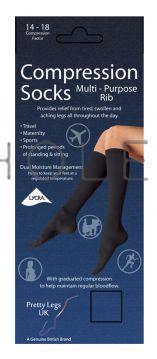 Flight Compression Travel Maternity Socks Fine Rib 6 pairs