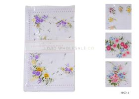 Ladies Handkerchiefs 8 Pack Floral Design 15 packs