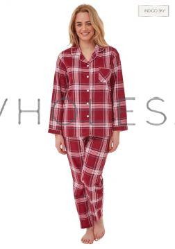 IN29282 Ruby Checked Wholesale Hot Honi Pyjamas
