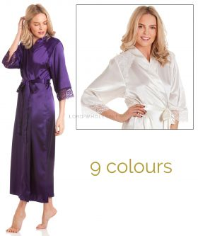 J50 English Made Long Satin Gown