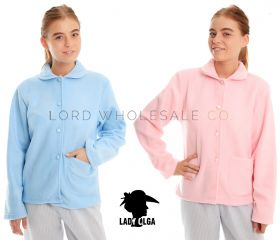 Ladies Daisy Fleece Button Through Bed Jackets by Lady Olga