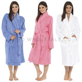 Ladies Towelling Robe 6 pieces