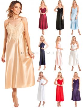 N50 Long Satin Nightdress by Lady Olga