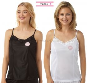 Ladies Cling Resistant Lace Top Cami Tops Camisoles by Marlon,